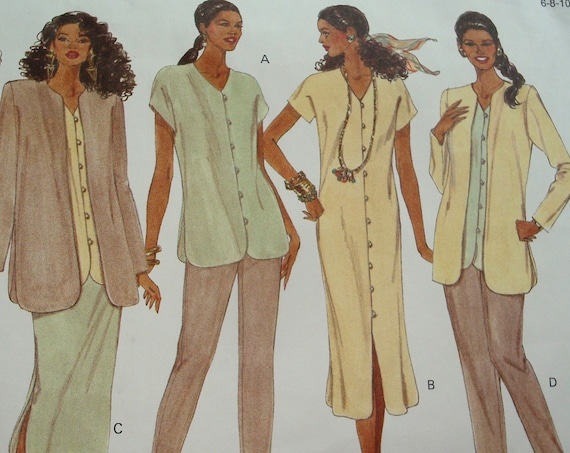Vogue Pattern For Misses' Jacket, Dress, Top, Skirt And Pants - Sizes 6-8-10