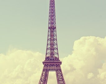 "A classic photo of the Eiffel Tower in Paris France 8""X12"" photograph."