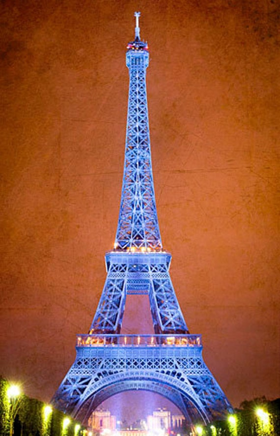 "Eiffel Tower on Bastille Day in Paris, France 8""X12"" photograph"