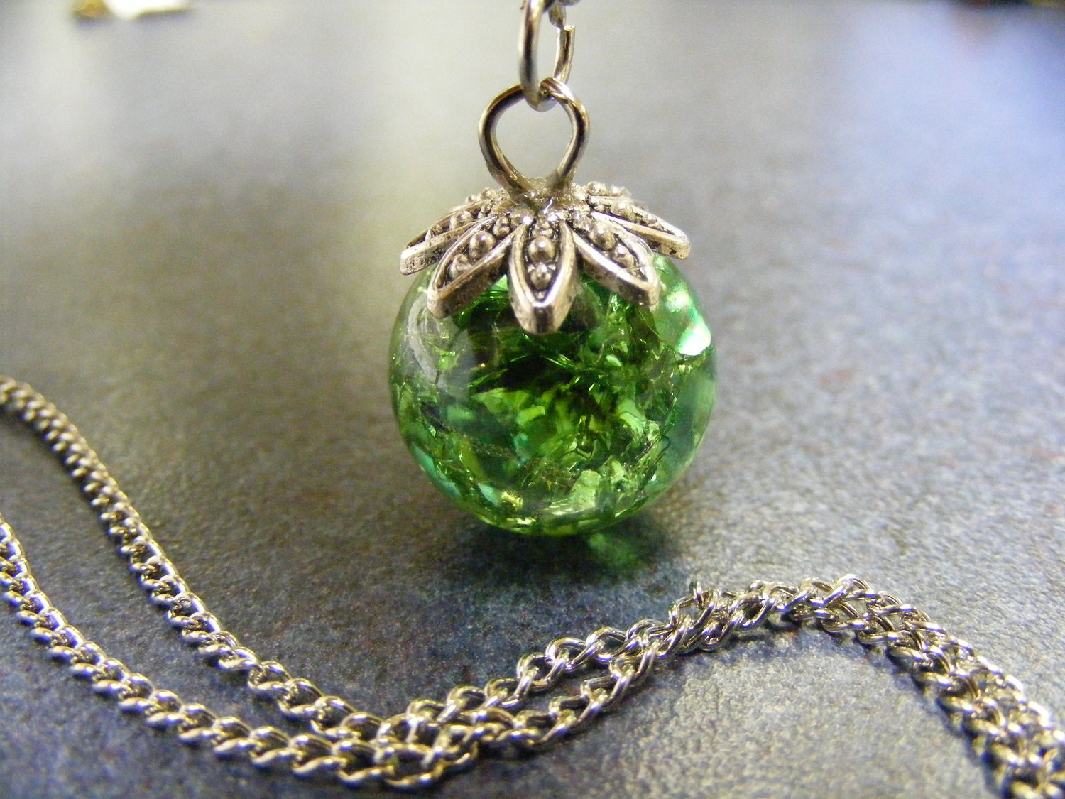 Baked marble pendant necklace green for How to make marble jewelry