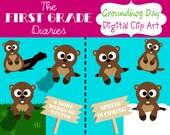 Groundhog Day Digital Clip Art --Buy 2, Get 1 Free