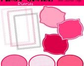 Valentine Heart Digital Frames, Journal Tags & Labels --BUY 2, GET 1 FREE