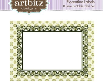 Florentine Labels, No. 19003 8 Piece Printable Label/Card Kit, 300 dpi .jpg