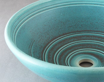 Porcelain Bath SINK with Satin BRONZE Glaze