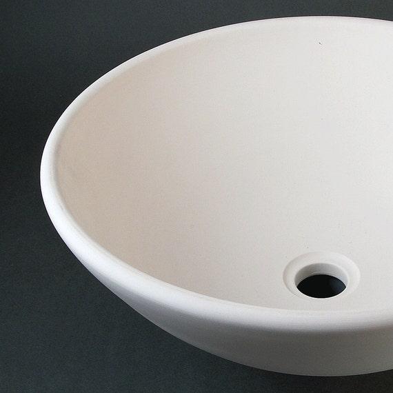 BISQUE Porcelain SINK Vessel Style