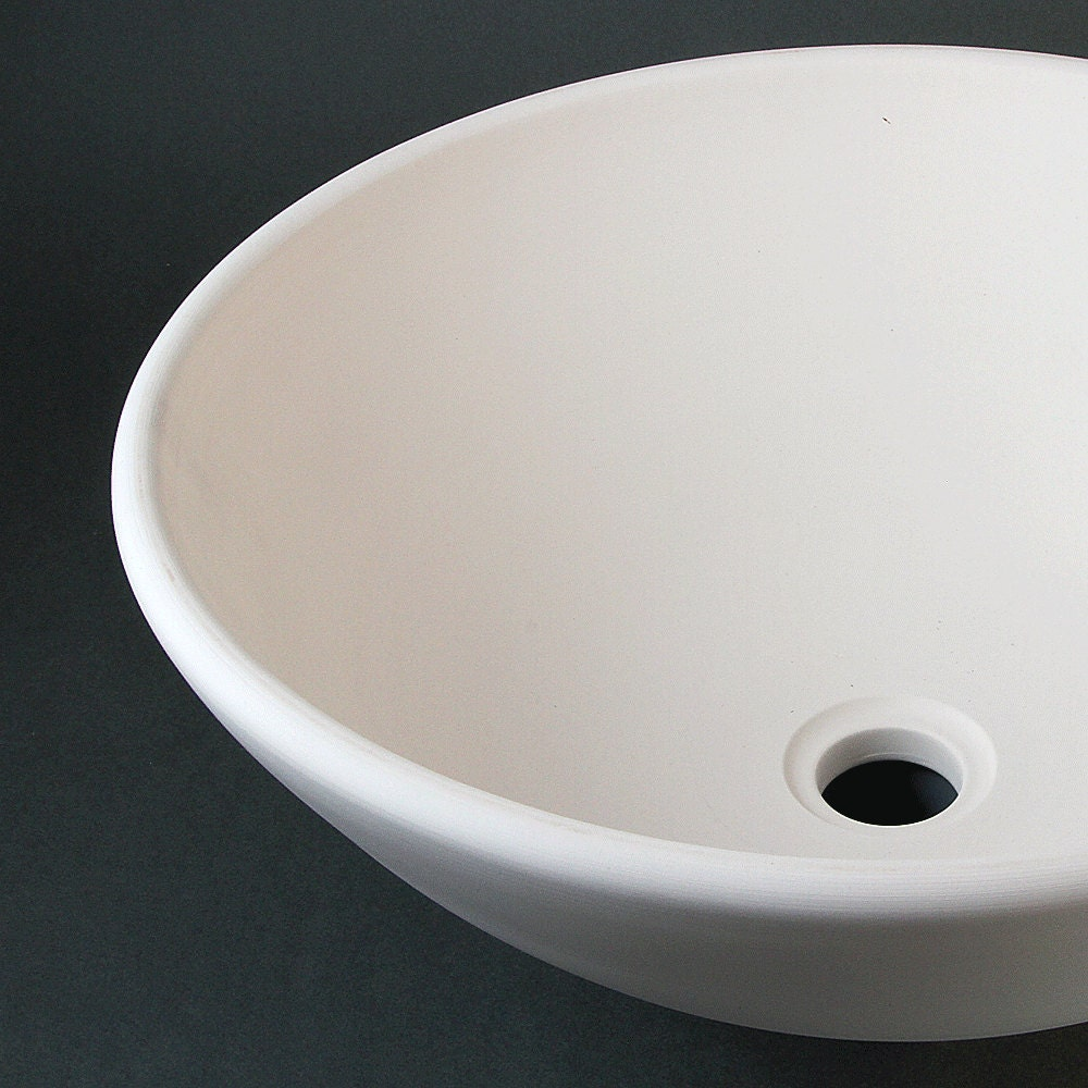 Sink Blank : BISQUE Porcelain SINK / Vessel Style