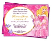 Aurora Invitation - Sleeping Beauty Invitation - Disney Princess Birthday - Party Printable Birthday Invitation