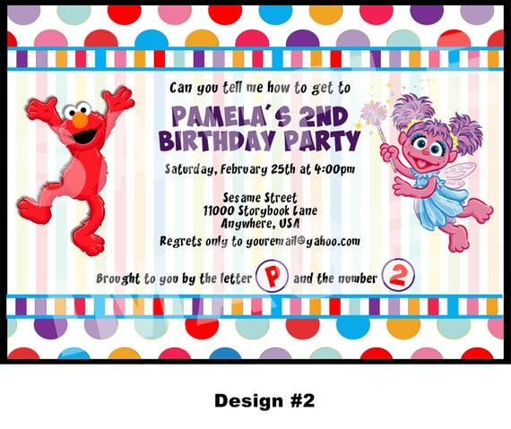 Items Similar To Elmo Invitation