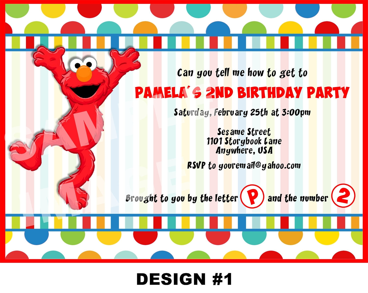 Sesame Street Invitation Elmo Invitation by ...