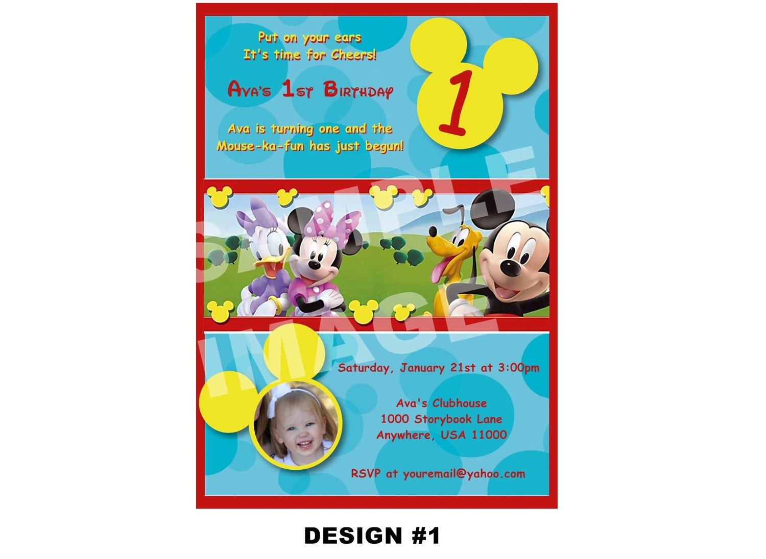 Items similar to Mickey Mouse Clubhouse Invitation - Birthday Party Printable - Mickey Mouse ...