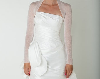 Summer Wedding Bolero Jackett knitted in one piece for your wedding dress thin and look through for the romantic wedding look