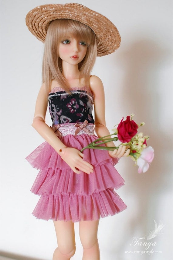 Pink tutu dress for Narae/Unoa/Slim MSD