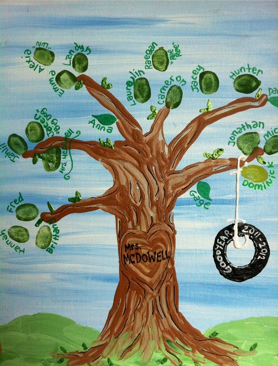 DIY template fingerprint guest book tree instant download  |Diy Fingerprint Tree