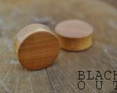 "Osage Orange Organic Ear Plugs 3/4"" (19.1mm) Custom Handmade Hand Carved Wood Body Jewelry Piercing Earrings 3/4 Inch"