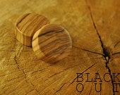 "Olivewood Organic Ear Plugs 11/16"" (17.5mm) Custom Handmade Hand Carved Wood Body Jewelry Piercing Earrings 11/16 Inch"