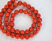 coral gemstone  jewelry supplies REF-458