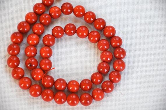 coral gemstone  jewelry supplies REF-458