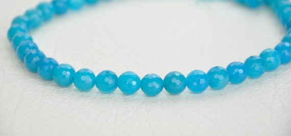 blue JADE 20pcs gemstone jewelry supplies REF-458