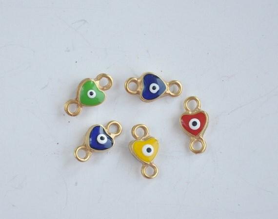 handmade glass beads 5 piece jewelery making materials.REF-657
