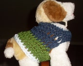 CLEARANCE XS Chihuahua lightweight sweater-blue, green, white