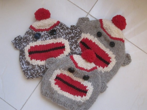 Knitting Pattern For Monkey Hat : Worlds Best Sock Monkey Hat Knitting Pattern