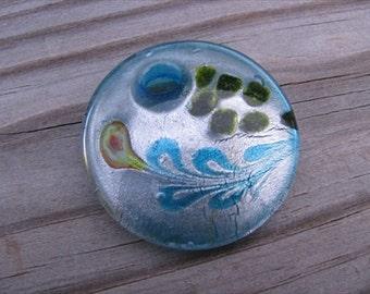 Murano Glass Circle Pendant- Turquoise