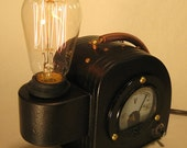 Reserved for John. Steam Punk Science, Art Deco, Machine Age,  Edison Lamp. Cool gifts for men.