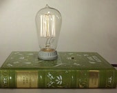 Sense and Sensibility Book Lamp- Leather Bound Edition. Gifts for women.  Eco Friendly.