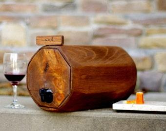 Wine Barrel, 4 QTY. - Wedding Reception -  Rustic Wedding Decor - Wine Decanter-QTY. 4