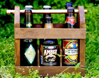 4 Beer Cartons - Home Brew Six Pack Carriers QTY4 - Beer Bottle Carriers - Bottle Opener -- Best Man Gift - Groomsmen Gift