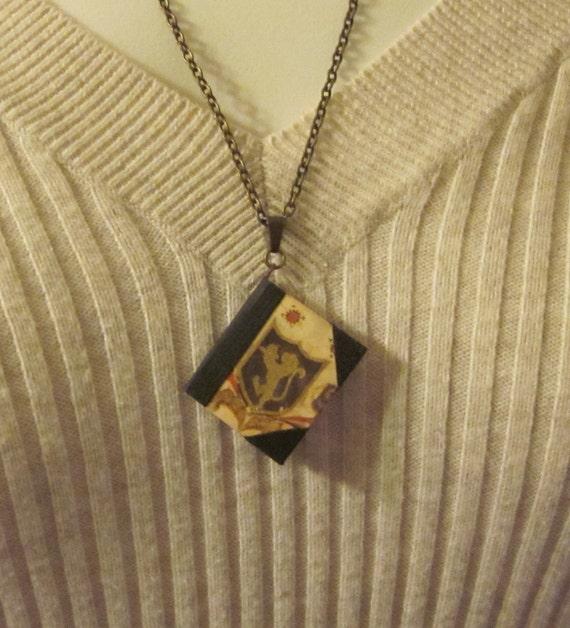 Dollhouse Miniature Book Necklace