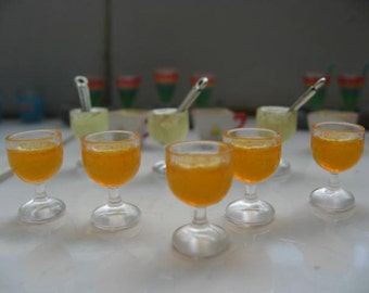Dollhouse Miniature Orange Juice Drinks