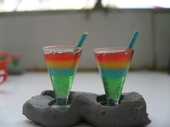rainbow miniature cocktail