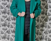 RESERVED FOR CATLOVER63 - Vintage 1970s Green Wool Swing Coat