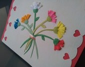 Flower Bouquet Happy Mothers Day Card