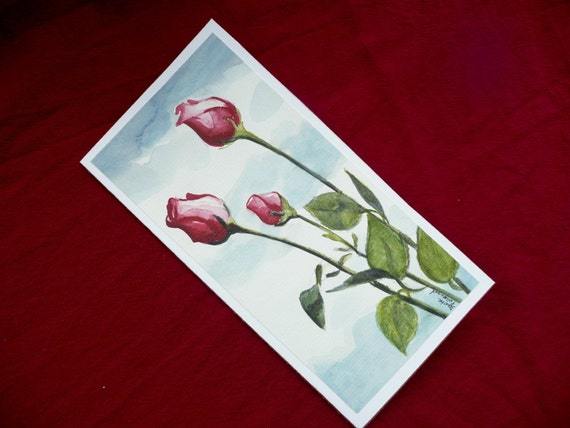 Items similar to watercolor painting hand painted for Painted christmas cards