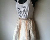 Vintage Ivory and Peach Stripes Shorts