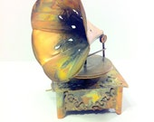 Copper Gramophone Music Box