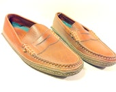Mens Brown Loafers Deck Shoes 9.5