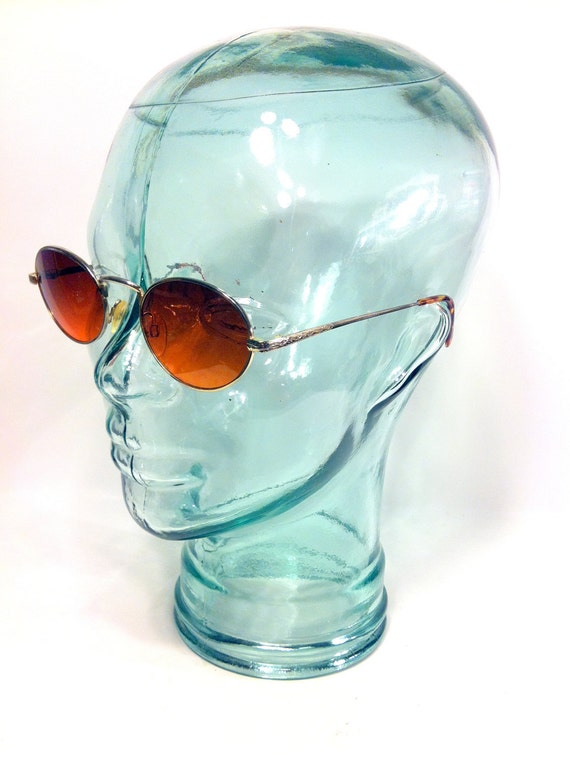 Gold Rounders Sunglasses, Unisex John Lennon Sunglasses, Round Beatnik