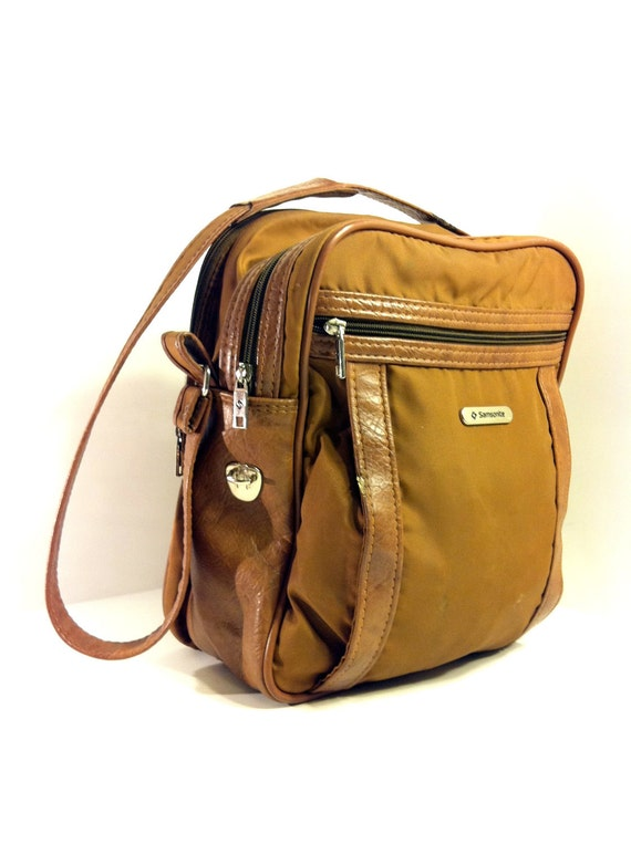 Samsonite Crossbody Messenger Overnight Travel Bag Book