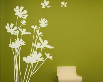 Flowers Wall Decal. Wall Sticker.