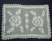 Fabulous Antique Filet Lace Roses Ivory Perfect for Gift Giving