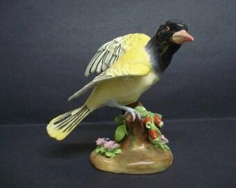 Very Pretty VINTAGE BIRD FIGURINE by Crown Staffordshire Designer J T Jones