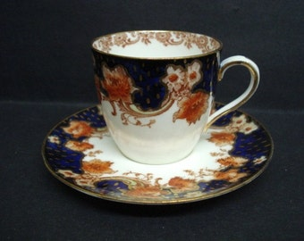 Rpyal DOULTON CUP and SAUCER Set - Royal Doulton - Burslem  - Demitasse  - Hand Decorated - Made in England