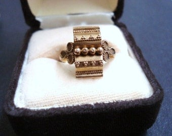 Museum Quality Victorian Ornate Ring 9c Rose Gold Would Make Perfect Unique Gift
