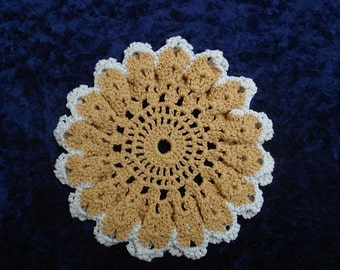 Pretty hand CROCHET POTHOLDER - Round  Shape