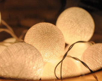 White cotton ball string light for party wedding decoration