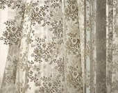 Beige Wedding Fabric, French Embroidered Lace, Bridal Lace Fabric,  wedding Dress Lace, Apparel Curtain Fabric- 1/2 yard Lace