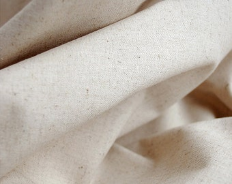 Cream Beige Linen Cotton Fabric/ Natural Fabric/ Bag Fabric/ Upholstery Fabric/ French Country - 1/2 yard